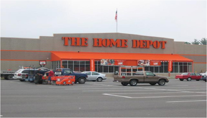 The Home Depot is 48.9 miles or 1 hour ride.